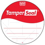 Daymark Circle TamperSeal Permanent Adhesive Label with Tamper Slit, 500 count per pack -- 24 per case