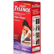 Infants Tylenol Pain plus Fever Infants Grape Flavor Liquid, 1 Fluid Ounce Box -- 36 per case