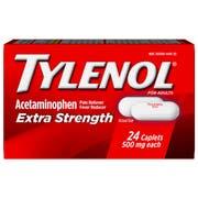 Tylenol Extra Strength Pain Reliever Fever Reducer 500mg Caplets, 24 per unit -- 72 per case