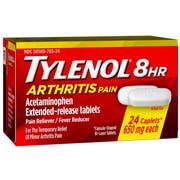 Tylenol Arthritis Pain Relief Caplets, 24 per unit -- 72 per case