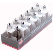 Tablecraft Eiffel Tower Salt and Pepper Chrome Top Shaker, 1 Ounce - 12 count per pack -- 4 packs per case