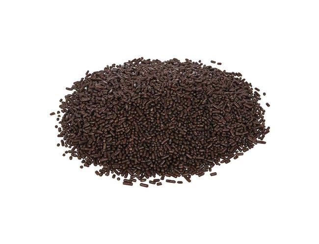 Sprinkle King Non Partially Hydrogenated Medium Chocolate Decorettes, 6 Pound -- 4 per case.
