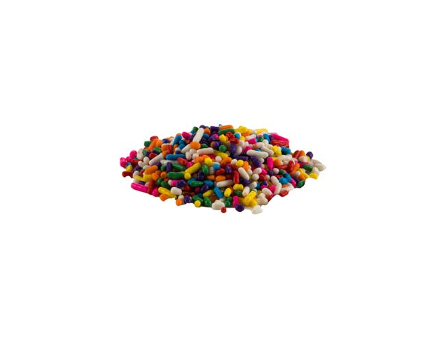 Sprinkle King Non Partially Hydrogenated Carnival Blend Decorettes, 6 Pound -- 4 per case.