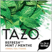 Tazo Refresh Mint Enveloped Hot Tea Bags, 24 count -- 6 per case