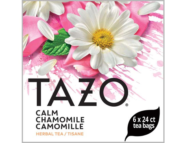 Tazo Calm Chamomile Enveloped Hot Tea Bags, 24 count -- 6 per case