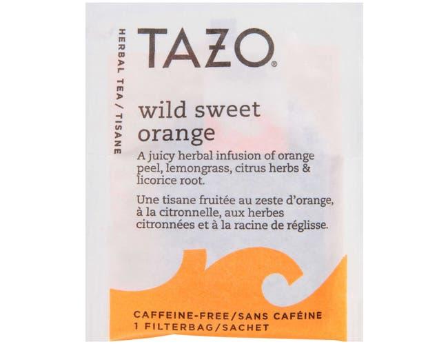 Tazo Wild Sweet Orange Enveloped Hot Tea Bags, 24 count -- 6 per case