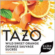 Tazo Wild Sweet Orange Enveloped Hot Tea Bags, 24 count -- 6 per case