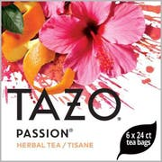 Tazo Passion Enveloped Hot Tea Bags, 24 count -- 6 per case