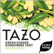 Tazo Green Ginger Enveloped Hot Tea Bags, 24 count -- 6 per case