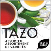 Tazo Black, Green and Herbal Assorted Carton Enveloped Hot Tea Bags, 24 count -- 6 per case