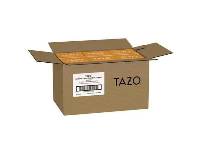 Tazo Organic Chai Enveloped Hot Tea Bags, 24 count -- 6 per case