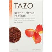 Tazo Scarlet Citrus Rooibos Tea, 20 tea bags per pack -- 6 per case