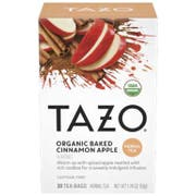 Tazo Organic Baked Apple Cinnamon Tea Bags - 20 tea bags per pack -- 6 packs per case