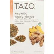 Tazo Organic Spicy Ginger Tea, 20 tea bags per pack -- 6 per case