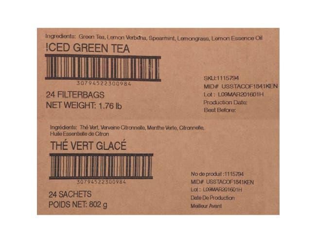 Tazo Fresh Brewed Iced Tea Zen Green, 1 gallon -- 24 per case