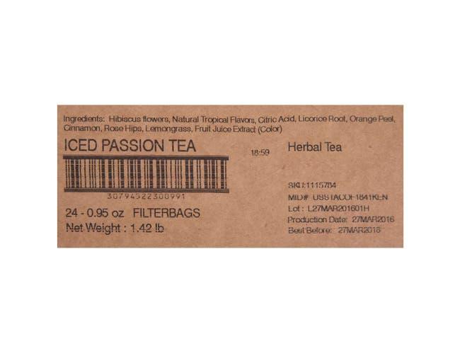 Tazo Fresh Brewed Iced Tea Passion, 1 gallon -- 24 per case