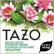Tazo Decaf Lotus Blossom Green Enveloped Hot Tea Bags, 24 count -- 6 per case