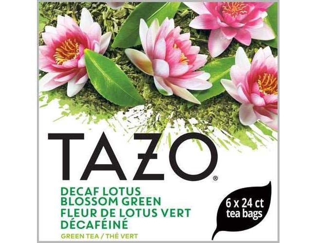 Tazo Decaf Lotus Blossom Green Enveloped Hot Tea Bags, 24 count -- 6 per case