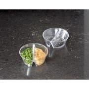 Small Wonders Clear Duplex Bowl -- 200 per case.