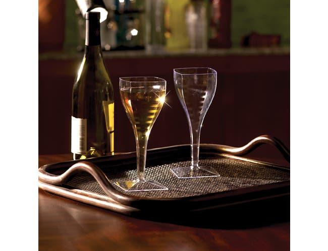 Yoshi Ware Emi Square Wine Glass, 8 Ounce - 6 per pack -- 12 packs per case.