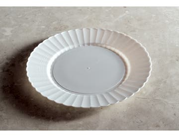 Resposables White Dinner Plate, 9 inch -- 180 per case.