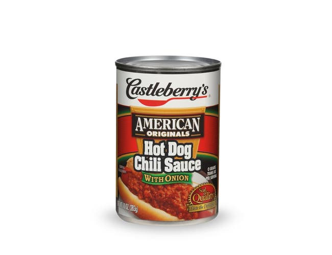 Aunt Kittys Foods Castleberrys American Original Hot Dog Chili with Onion Can, 10 Ounce -- 24 per case.
