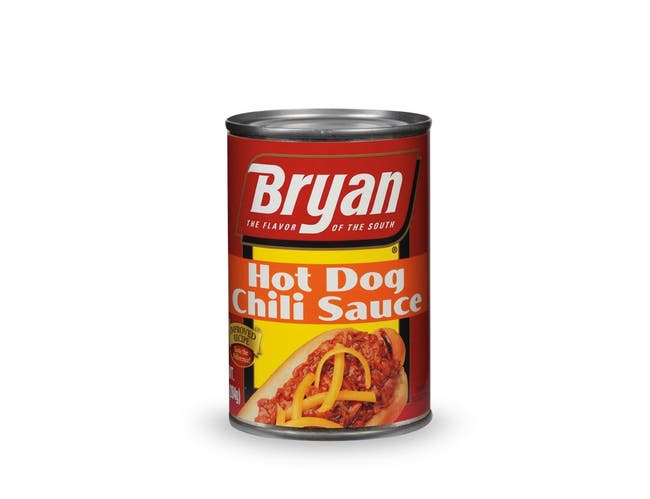 Aunt Kittys Foods Bryan Hot Dog Chili Can, 10 Ounce -- 24 per case.