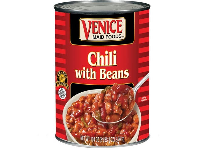 Venice Maid Deluxe Chili with Beans - no. 10 can, 6 per case