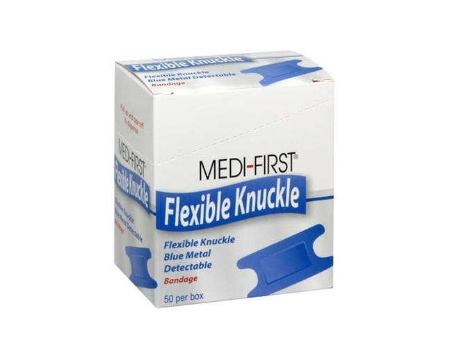 Daymark First Aid Kit Bulk Knuckle Blue Fabric Bandages -- 40 per case.