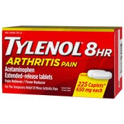 Tylenol 8 Hour Arthritis Pain Reliever Fever Reducer Extended Release Caplet, 225 per unit -- 24 per case