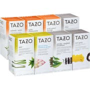 Tazo Black, Green and Herbal Assorted Variety Pack Enveloped Hot Tea Bags, 24 count -- 16 per case