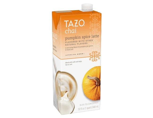Tazo Tea Concentrate 1:1 Pumpkin Spice Latte, 32 ounce -- 6 per case
