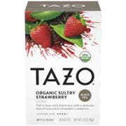 Tazo Organic Sultry Strawberry Tea Bags - 20 tea bags per pack -- 6 packs per case