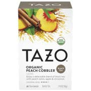 Tazo Organic Peach Cobbler Tea Bags - 20 tea bags per pack -- 6 packs per case