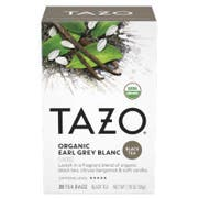 Tazo Organic Earl Grey Blanc Tea - 20 tea bags per pack -- 6 packs per case