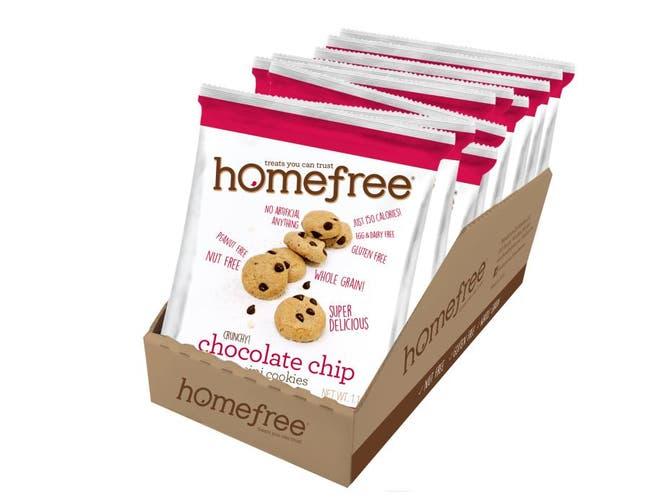 Homefree Gluten Free Chocolate Chip Mini Cookie, 1.1 Ounce Bag -- 10 per case.