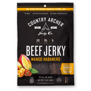 Country Archer Mango Habanero Beef Jerky, 3 Ounce -- 12 per case.