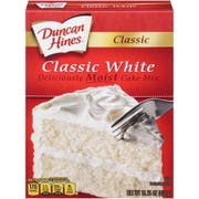 Duncan Hines Classic White Layer Cake Mix, 15.25 Ounce -- 12 per case.