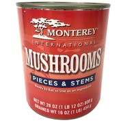 Monterey International Mushroom Pieces and Stems, 28 Ounce -- 12 per case
