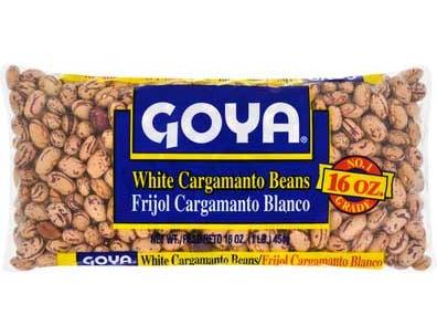 Goya White Cargamanto Beans, 16 Ounce -- 24 per case.