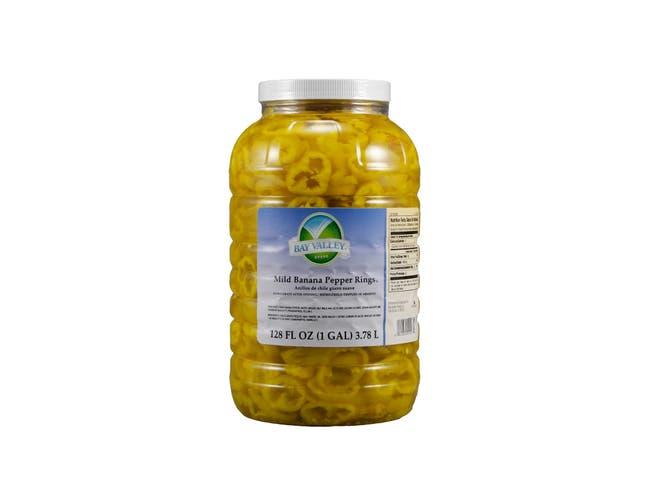 Bay Valley Foods Premium Mild Banana Pepper Ring, 1 Gallon -- 4 per case.