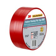 3M Outdoor Red Masking Poly Tape, 50 in x 60 yard -- 4 per case.