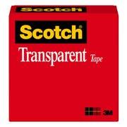 Scotch Premium Transparent Film Tape, 1/2 inch x 72 yard -- 72 per case.