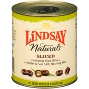 Lindsay Naturals Sliced Olives, 55 Ounce -- 6 per case.
