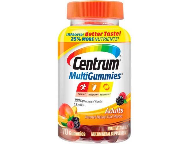 Centrum Adult Multivitamin Gummies, 70 count per pack -- 12 per case.