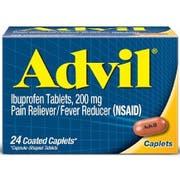 Advil Ibuprofen 200mg Caplet, 24 per unit -- 72 per case