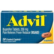Advil Ibuprofen 200mg Pain Reliever Caplet, 50 per unit -- 36 per case