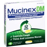 Mucinex DM Regular Strength Expectorant and Cough Suppressant - 6 count per pack -- 24 packs per case
