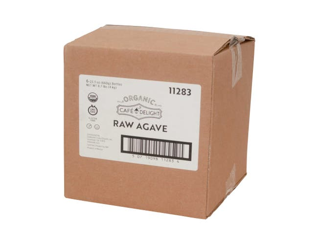 Cafe Delight Organic Raw Agave, 23.3 Ounce -- 6 per case.