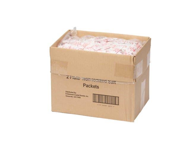 Packet Brand Fluted Salt Packets, 0.75 Gram -- 3000 per case.